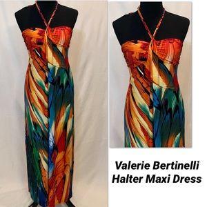 Valerie Bertinelli Butterfly Halter Maxi Dress - 4
